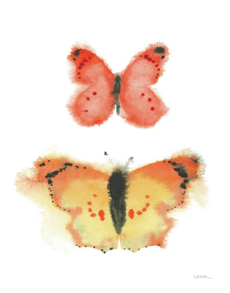 Wall Art - Painting - Watercolor Butterflies Iv by Shirley Novak