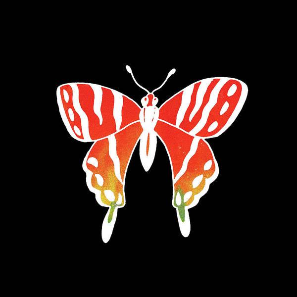 Painting - Watercolor Butterfly On Black II by Irina Sztukowski