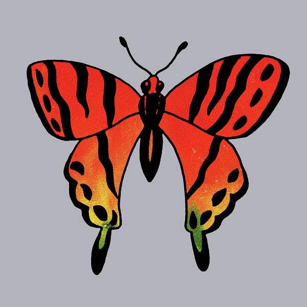 Wall Art - Painting - Watercolor Butterfly On Gray IIi by Irina Sztukowski