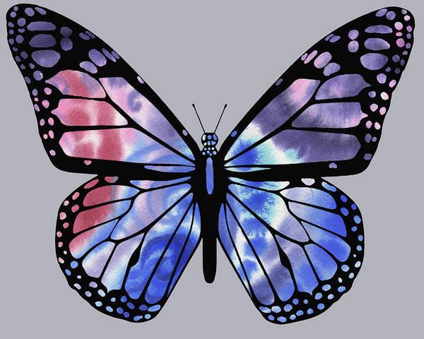 Painting - Watercolor Butterfly On Gray Xi by Irina Sztukowski