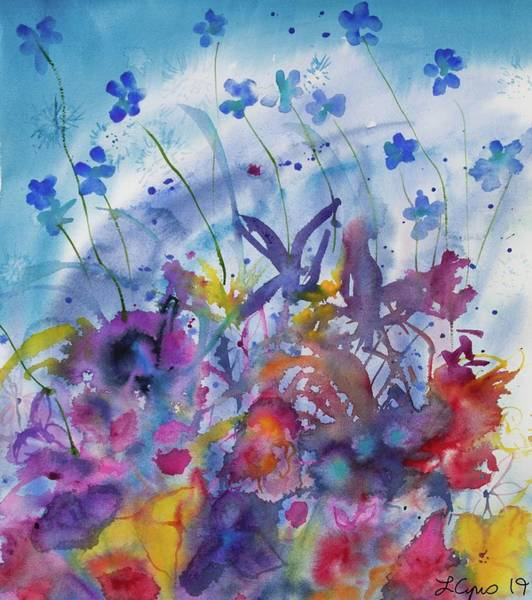 Painting - Watercolor - Colorful Flower Abstract by Cascade Colors