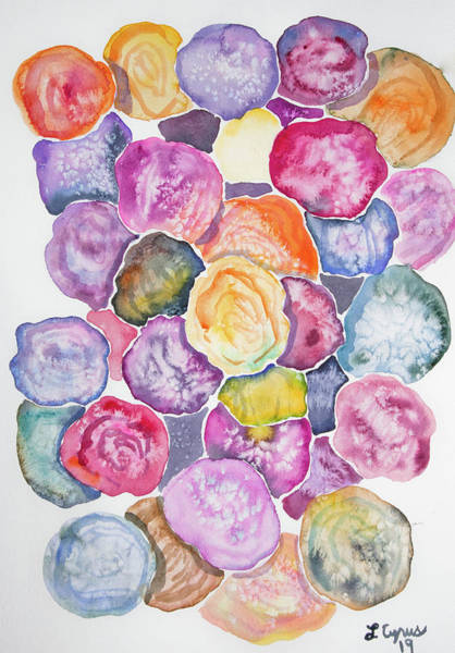 Painting - Watercolor - Colorful Rose Bunch by Cascade Colors