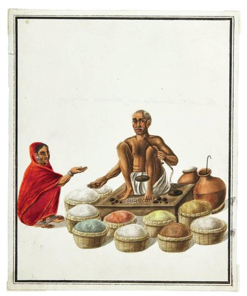 Wall Art - Painting - Watercolor Drawings By Rachel Welland, India, Company School, Late 18th Early 19th Century 5 by Celestial Images