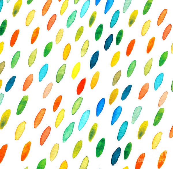 Wall Art - Digital Art - Watercolor Drops Pattern by Maria Sem