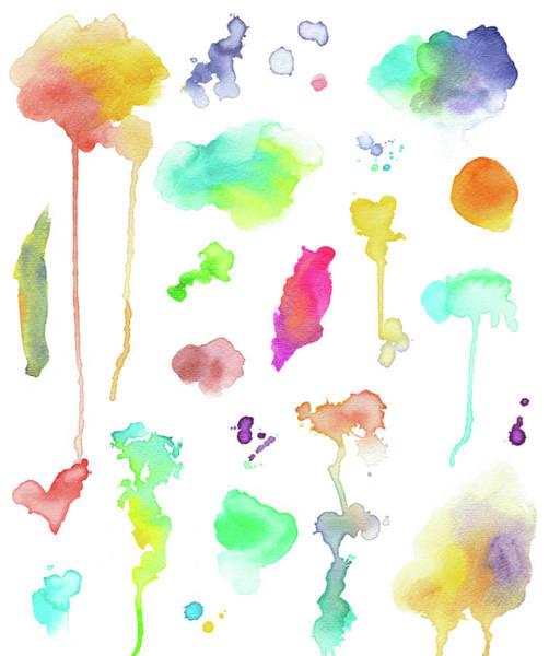 Art Object Digital Art - Watercolor Elements by Crisserbug