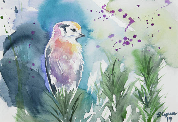 Painting - Watercolor - Gray Jay Solitude by Cascade Colors