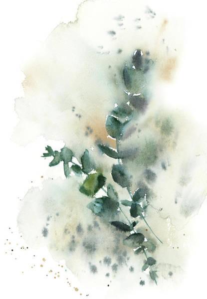 Wall Art - Painting - Watercolor Greenery II by Sophia Rodionov