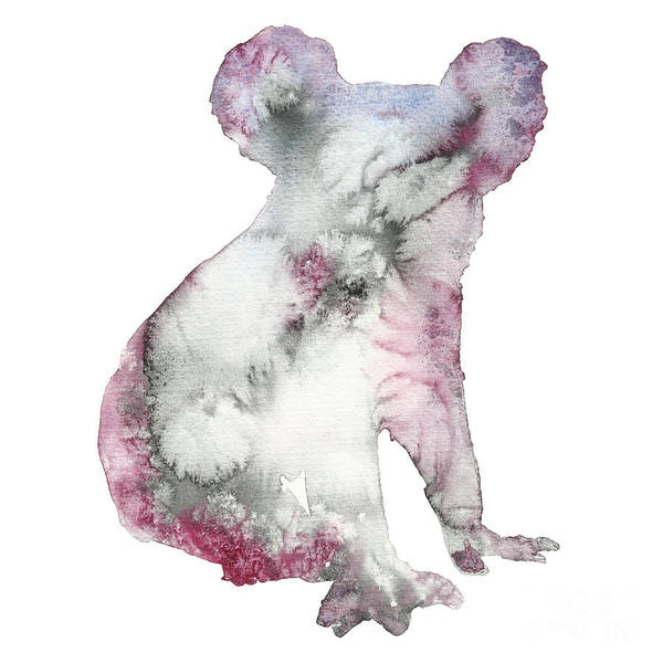 Australian Wildlife Digital Art - Watercolor Koala Bear Animal by Anna Ivanir