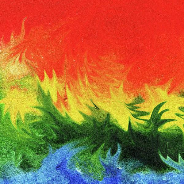 Wall Art - Painting - Watercolor Liquid Colorful Abstract II by Irina Sztukowski
