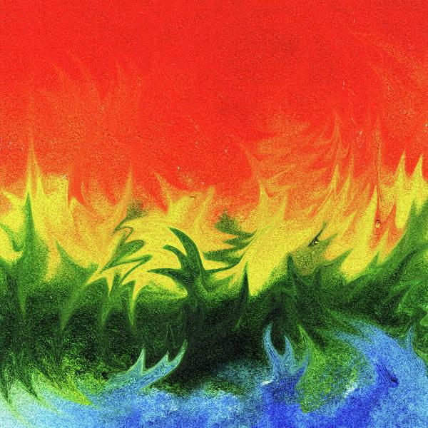 Wall Art - Painting - Watercolor Liquid Colorful Abstract IIi by Irina Sztukowski