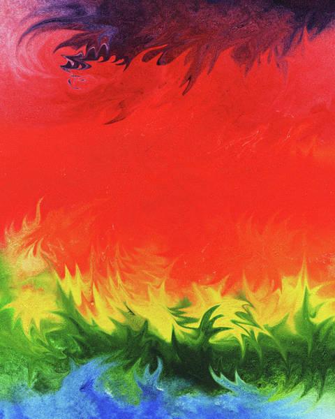 Wall Art - Painting - Watercolor Liquid Colorful Abstract Xiv by Irina Sztukowski