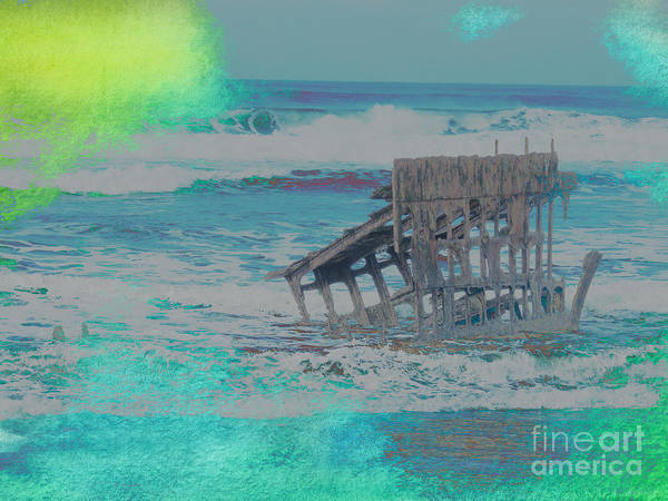 Oregon Coast Mixed Media - Watercolor Of The Wreck Of Peter Iredale by Beverly Guilliams