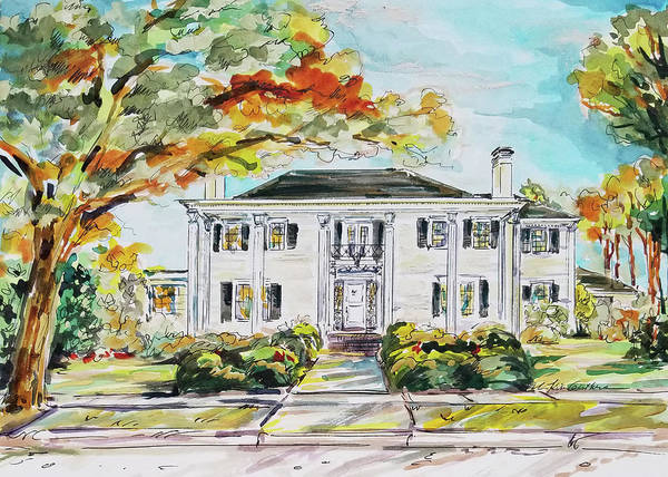 Wall Art - Painting - Watercolor Painting Of Historic Texas House by Kim Guthrie