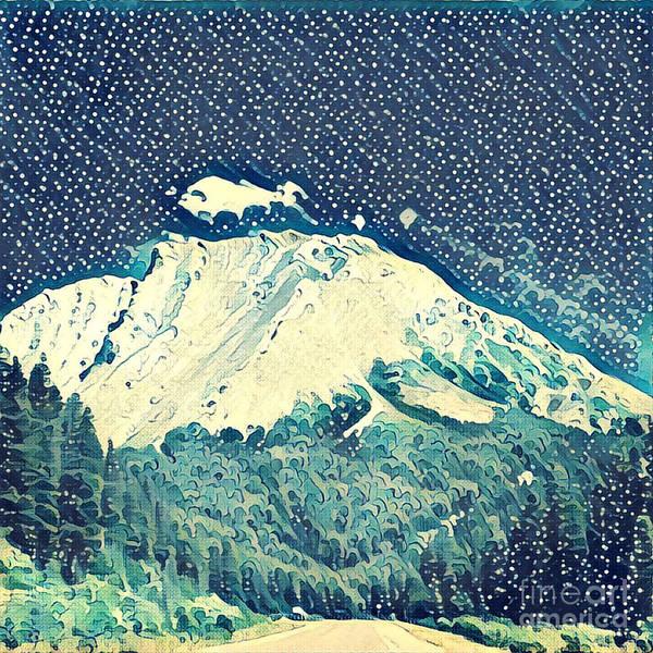 Rockies Wall Art - Digital Art - Watercolor Painting Of The Rockies by Melissa King