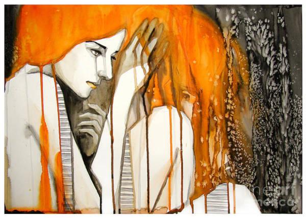Hair Style Wall Art - Digital Art - Watercolor Portrait Of Beautiful Girl | by Re bekka