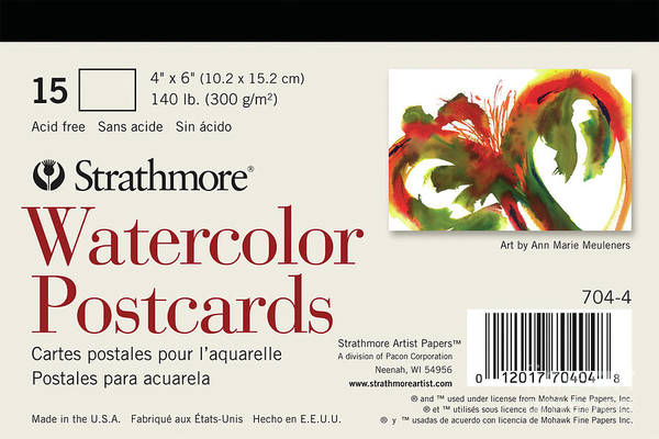 Painting - Watercolor Postcards by Strathmore Artist Papers