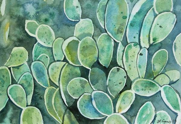 Painting - Watercolor - Prickly Pear Design by Cascade Colors