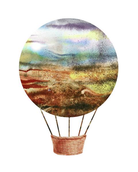 Painting - Watercolor Silhouette Hot Air Balloon Ix by Irina Sztukowski
