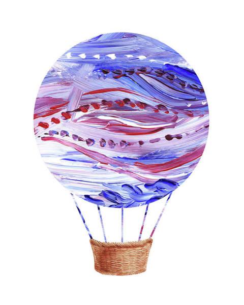 Painting - Watercolor Silhouette Hot Air Balloon V by Irina Sztukowski