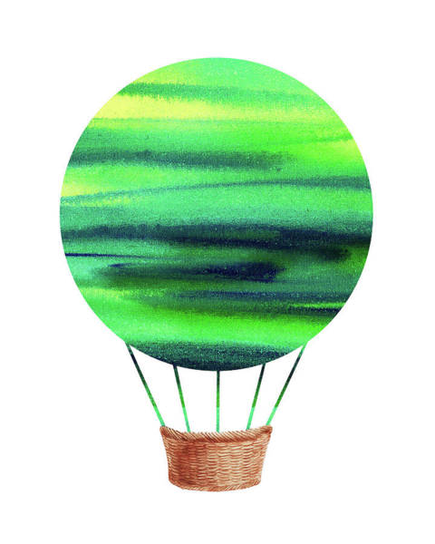 Painting - Watercolor Silhouette Hot Air Balloon Viii by Irina Sztukowski