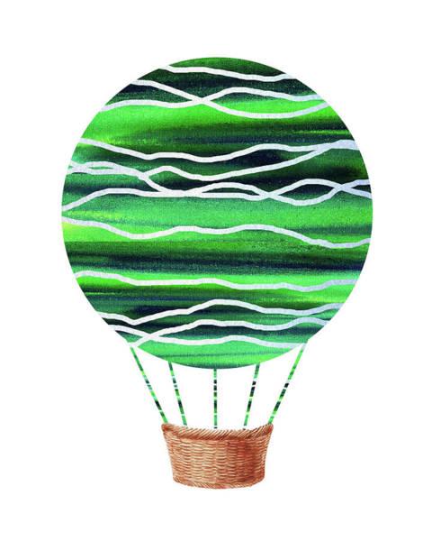 Painting - Watercolor Silhouette Hot Air Balloon X by Irina Sztukowski