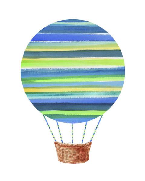 Painting - Watercolor Silhouette Hot Air Balloon Xi  by Irina Sztukowski