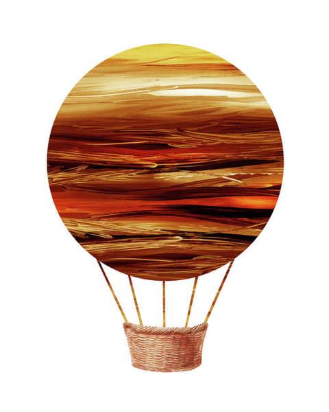 Painting - Watercolor Silhouette Hot Air Balloon Xii  by Irina Sztukowski