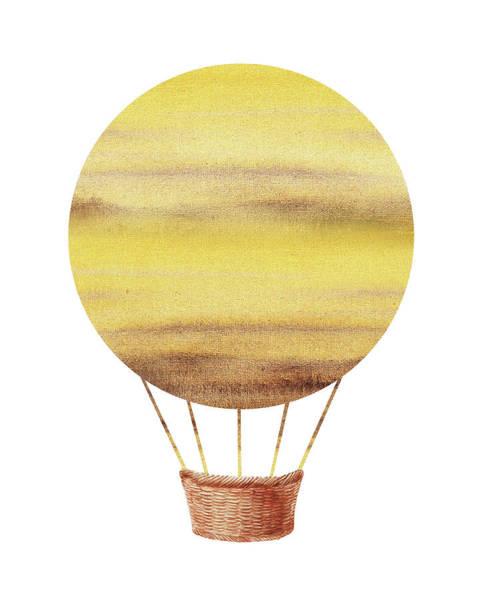 Painting - Watercolor Silhouette Hot Air Balloon Xiv by Irina Sztukowski