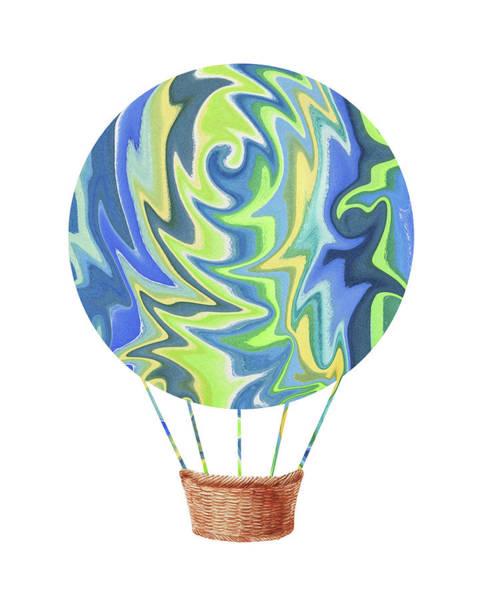 Painting - Watercolor Silhouette Hot Air Balloon Xvi by Irina Sztukowski