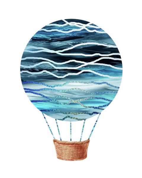 Painting - Watercolor Silhouette Hot Air Balloon Xvii by Irina Sztukowski