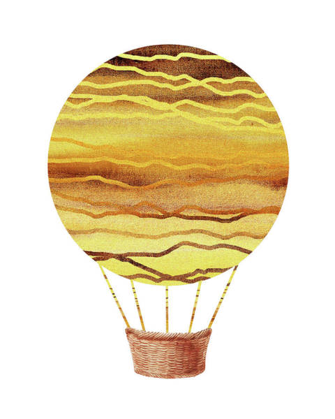 Painting - Watercolor Silhouette Hot Air Balloon Xviii by Irina Sztukowski