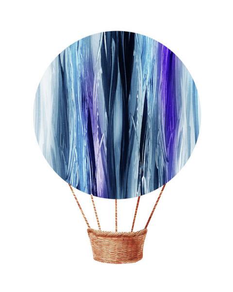 Wall Art - Painting - Watercolor Silhouette Hot Air Balloon Xx by Irina Sztukowski