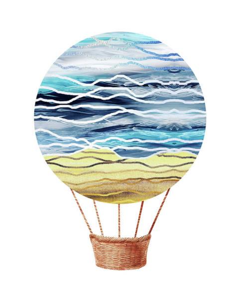 Wall Art - Painting - Watercolor Silhouette Hot Air Balloon Xxi by Irina Sztukowski
