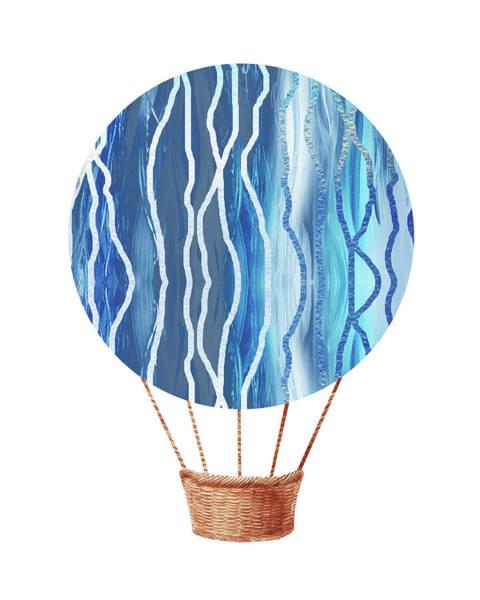 Wall Art - Painting - Watercolor Silhouette Hot Air Balloon Xxiii by Irina Sztukowski