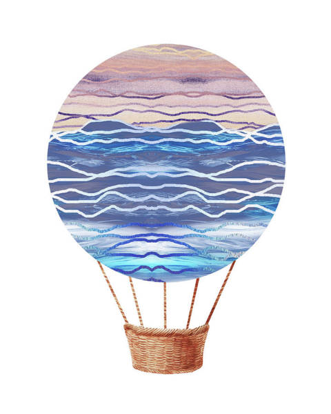 Wall Art - Painting - Watercolor Silhouette Hot Air Balloon Xxvi by Irina Sztukowski