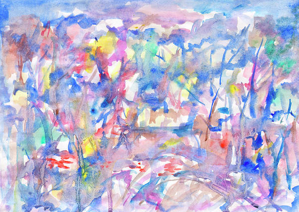 Painting - Watercolor Splashes by Irina Dobrotsvet