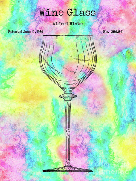 Wall Art - Photograph - Watercolor Wine Glass by Jon Neidert