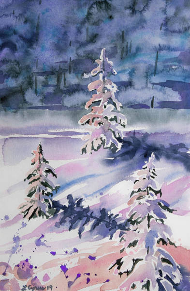 Painting - Watercolor - Winter In Pastel by Cascade Colors