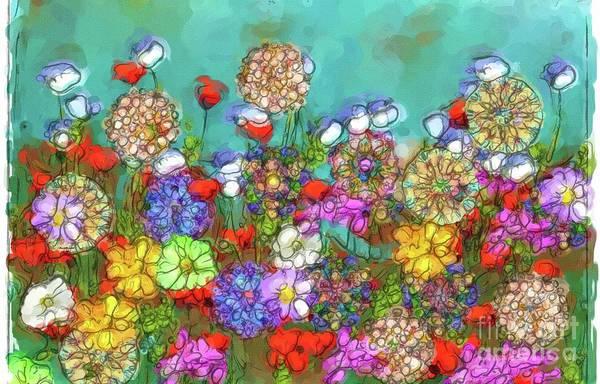 Wild Poppies Digital Art - Watercolored Wildflowers by Michelle Ressler