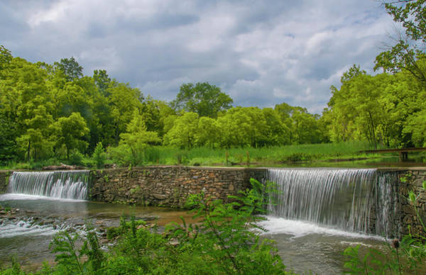Photograph - Waterfall Along Valley Creek - Valley Forge by Bill Cannon