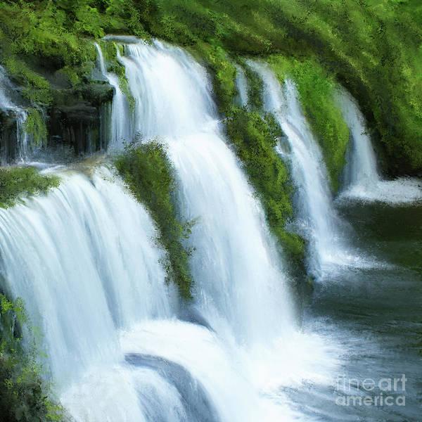 Digital Art - Waterfall by Anne Vis