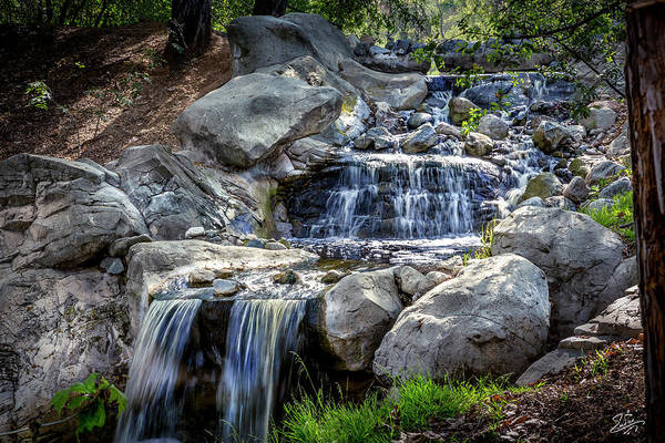 Photograph - Waterfall At Descanso Gardens by Endre Balogh