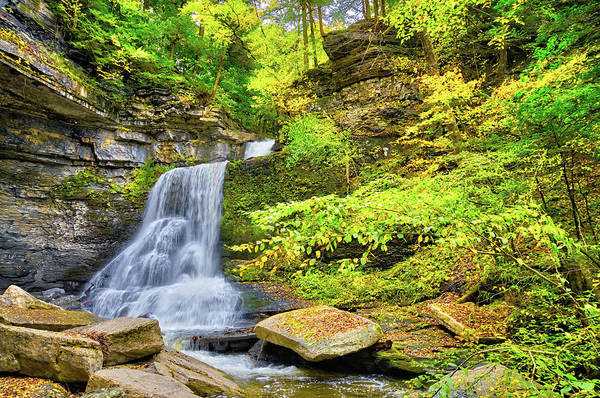 Photograph - Waterfall Beauty In Fillmore Glen State Park - Finger Lakes, New York by Lynn Bauer