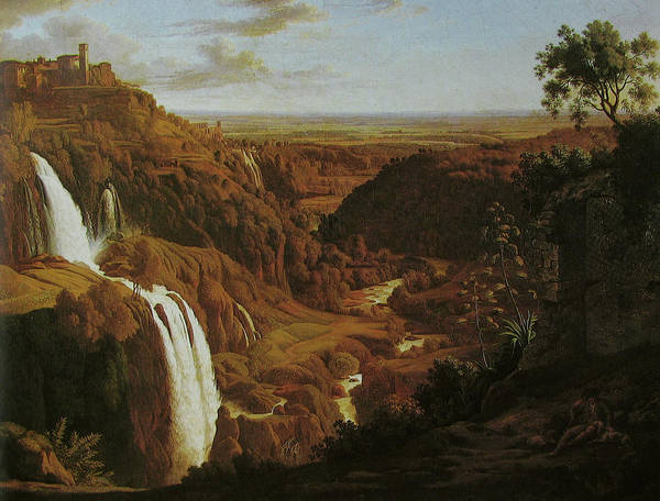 Painting - Waterfall By Tivoli by Johann Martin von Rohden