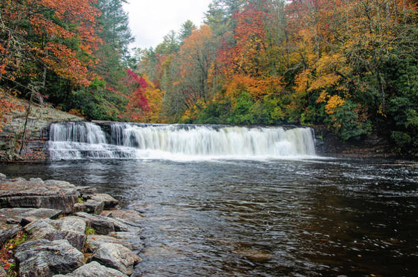 Photograph - Waterfall In Autumn by Claire Turner