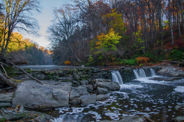 Wall Art - Photograph - Waterfall In Autumn - Wissahickon Creek - Philadelphia by Bill Cannon