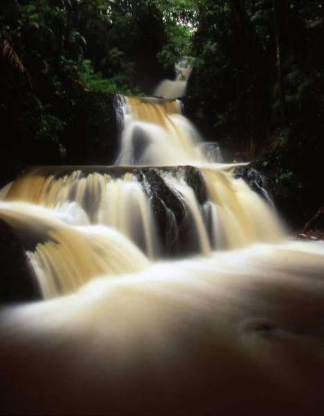 Big Island Photograph - Waterfall In Hawaii by By Tiina Gill
