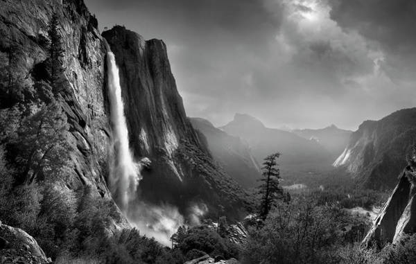 Wall Art - Photograph - Waterfall In Rural Valley, Yosemite by Chris Clor