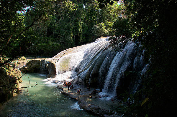 Photograph - Waterfall In The Jungle Chiapas by David Resnikoff