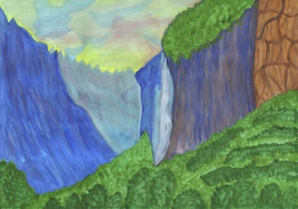 Painting - Waterfall In The Mountains by Irina Dobrotsvet